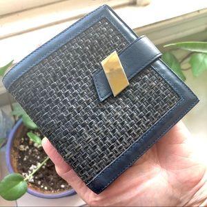 Handbags - Bifold Navy Calf Leather Wallet VINTAGE